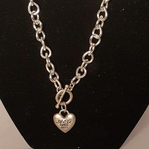 AEO Heart Silver-tone Chain Link Necklace